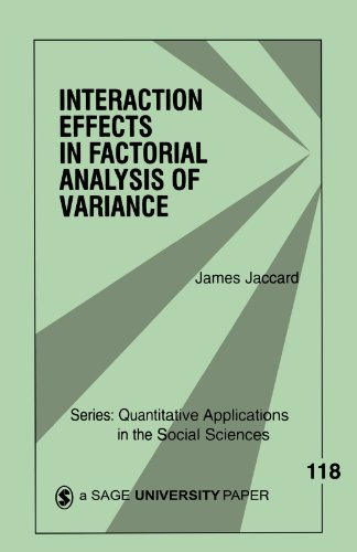 Interaction Effects in Factorial Analysis of Variance   1998 edition cover