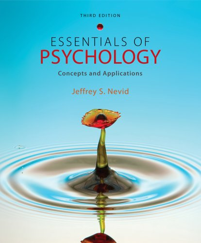 Essentials of Psychology Concepts and Applications 3rd 2012 edition cover