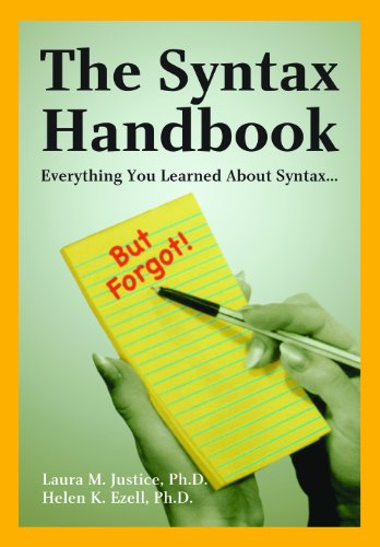 The Syntax Handbook: Everything You Learned About Syntax ...(but Forgot)  2002 edition cover