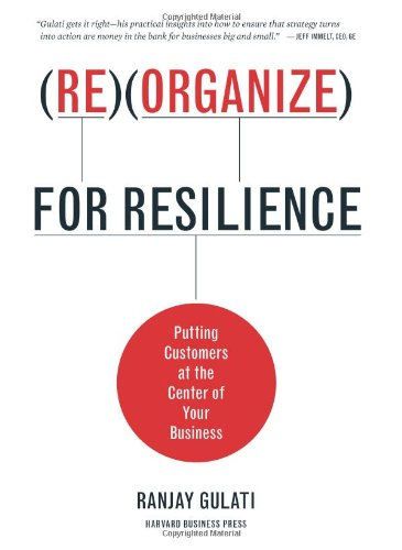 Reorganize for Resilience Putting Customers at the Center of Your Business  2010 edition cover