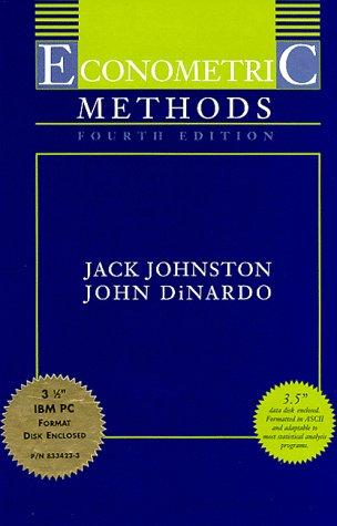 Econometric Methods  4th 1997 edition cover