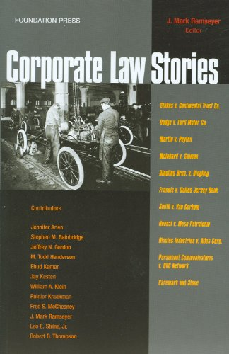 Corporate Law Stories   2009 edition cover