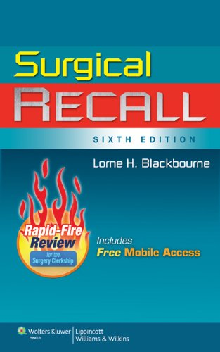 Surgical Recall  6th 2011 (Revised) edition cover