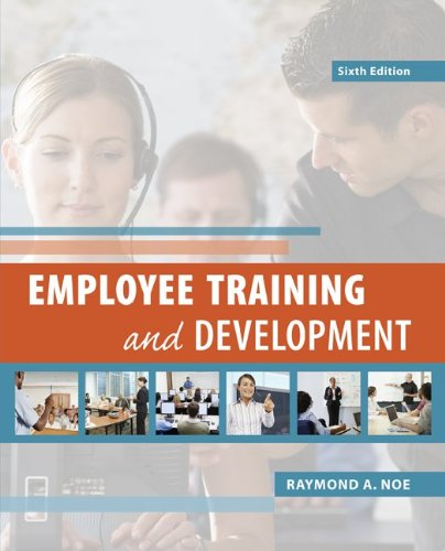 Employee Training and Development  6th 2013 9780078029219 Front Cover