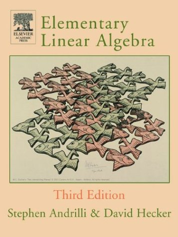 Elementary Linear Algebra  3rd 2003 (Revised) 9780120586219 Front Cover