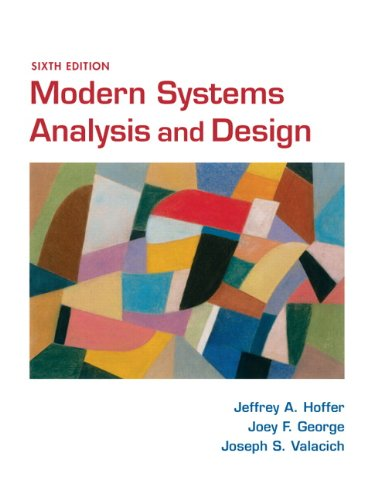 Modern Systems Analysis and Design  6th 2011 edition cover