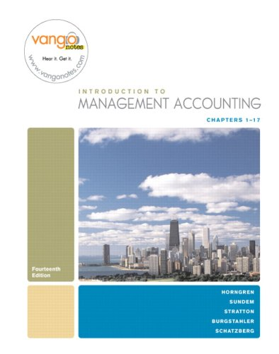 Management Accounting  14th 2008 edition cover