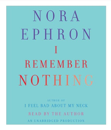 I Remember Nothing: And Other Reflections  2010 edition cover
