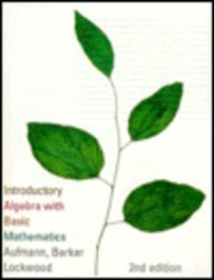 Introductory Algebra with Basic Mathematics  2nd 1996 9780395746219 Front Cover