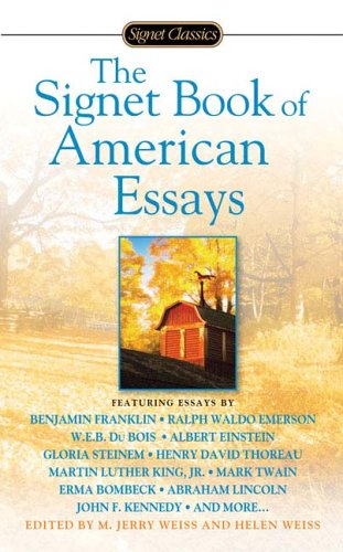 Signet Book of American Essays   2006 edition cover