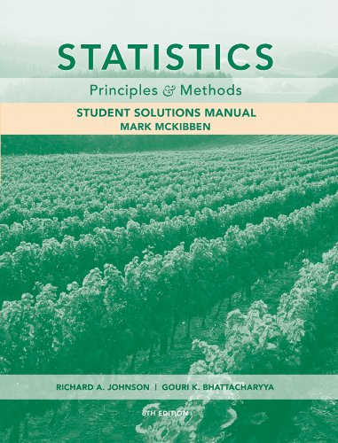 Statistics Principles and Methods 6th 2009 9780470535219 Front Cover