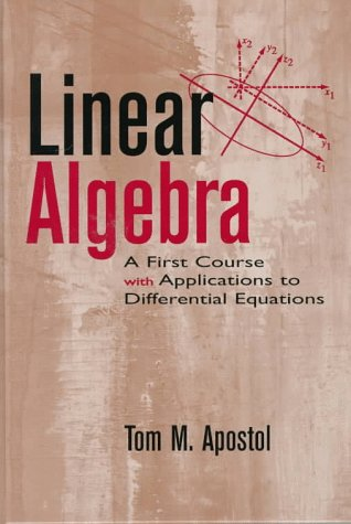 Linear Algebra A First Course with Applications to Differential Equations  1997 edition cover