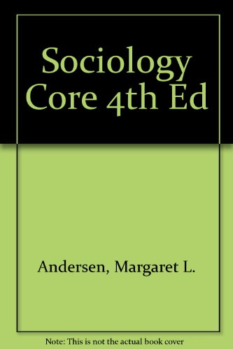 Sociology Core 4th Ed  4th 2005 9780534617219 Front Cover