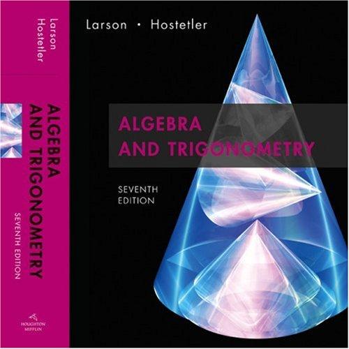 Algebra and Trigonometry Text 7th 2007 edition cover