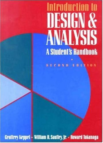 Introduction to Design and Analysis A Student's Handbook 2nd 1992 (Student Manual, Study Guide, etc.) edition cover