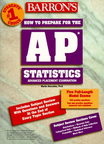 How to Prepare for the Advanced Placement Test AP Statistics N/A 9780764102219 Front Cover
