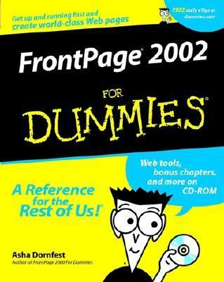 FrontPage 2002 for Dummies�   2001 9780764508219 Front Cover