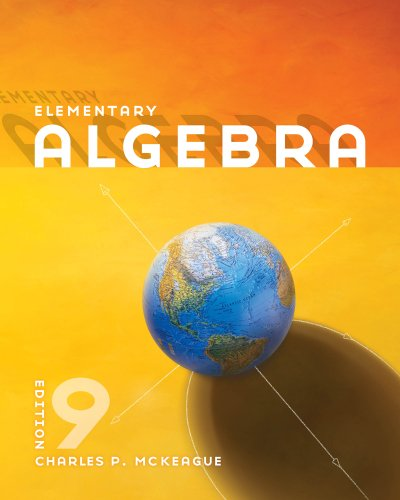 Elementary Algebra  9th 2012 edition cover