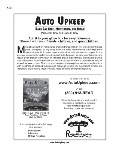 Auto Upkeep : Basic Car Care, Maintenance, and Repair 2nd 2007 edition cover