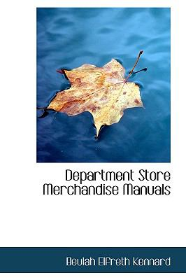 Department Store Merchandise Manuals  N/A edition cover