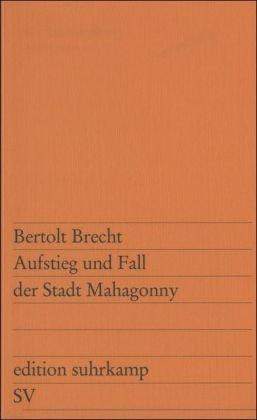 AUFSTEIG UND FALL DER STADT 1st edition cover