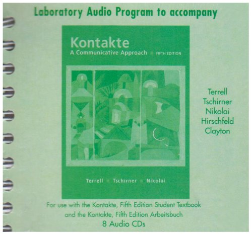 Student Audio CD Program t/a Kontakte : A Communicative Approach 5th 2005 9780073279220 Front Cover