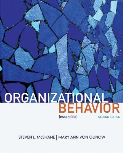 Organizational Behavior  2nd 2009 edition cover