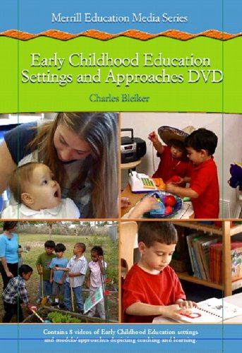 Early Childhood Settings and Approaches  2006 edition cover