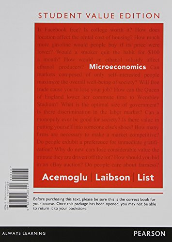 Microeconomics, Student Value Edition   2015 9780133487220 Front Cover
