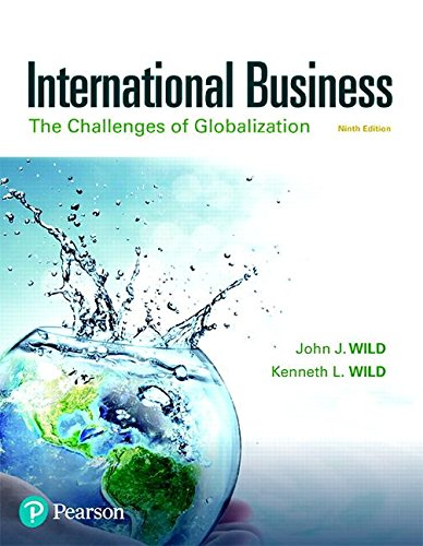 International Business The Challenges of Globalization 9th 2019 9780134729220 Front Cover