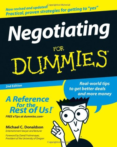 Negotiating for Dummies�  2nd 2007 (Revised) edition cover