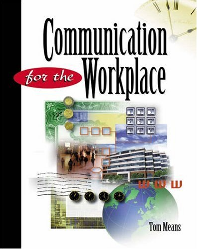 Communication for the Workplace   2001 9780538723220 Front Cover