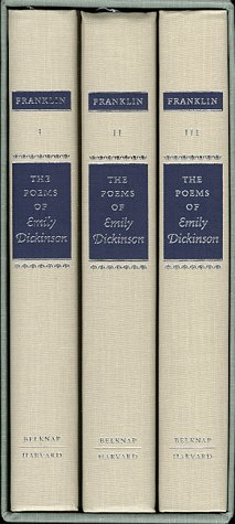 Poems of Emily Dickinson   1998 (Variorum) edition cover