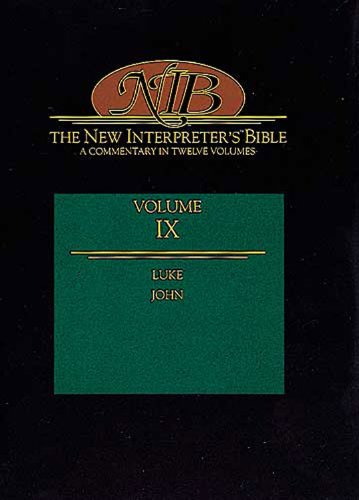 New Interpreter's Bible Luke and John N/A edition cover