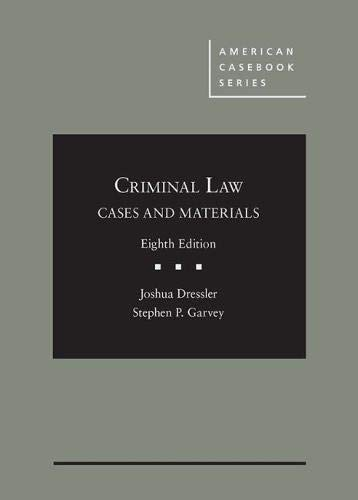 CRIMINAL LAW:CASES+MATERIALS            N/A 9781683288220 Front Cover