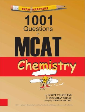 Examkrackers 1001 Questions in MCAT Chemistry 1st 2002 edition cover