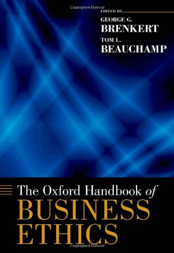 Oxford Handbook of Business Ethics   2012 edition cover