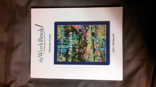 Prealgebra Myworkbook:   2013 edition cover