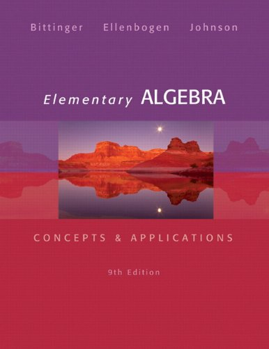 Elementary Algebra Concepts and Applications 9th 2014 edition cover