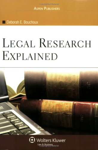 Legal Research Explained  N/A edition cover