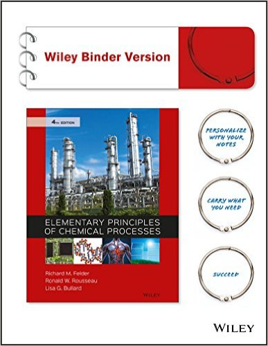 Elementary Principles of Chemical Processes  4th 2016 9781118431221 Front Cover