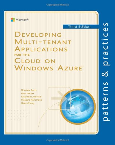 Developing Multi-Tenant Applications for the Cloud on Windows Azure  3rd 2012 9781621140221 Front Cover