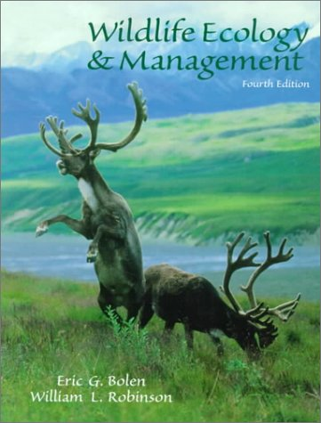 Wildlife Ecology and Management  4th 1999 edition cover