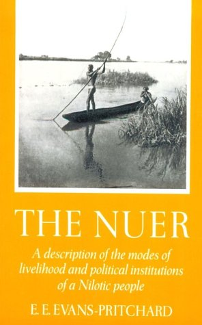 Nuer A Description of the Modes of Livelihood and Political Institutions of a Nilotic People  1974 edition cover