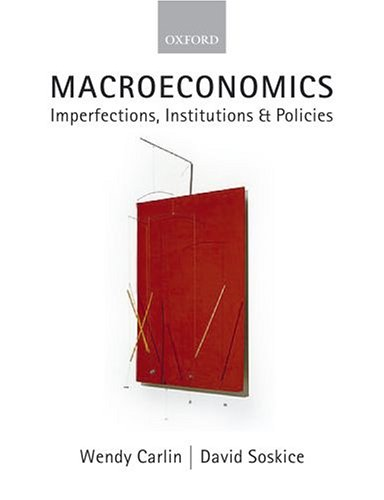 Macroeconomics Imperfections, Institutions and Policies  2006 edition cover