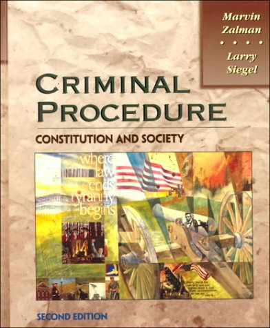 Criminal Procedure Constitution and Society 2nd 1997 edition cover
