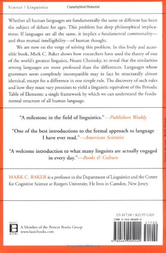 Atoms of Language The Mind's Hidden Rules of Grammar  2001 (Reprint) edition cover