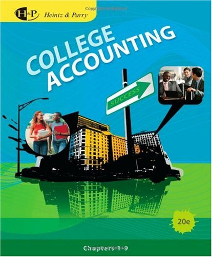 College Accounting  20th 2011 edition cover