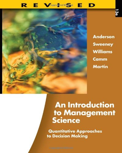 Introduction to Management Science Quantitative Approaches to Decision Making 13th 2012 (Revised) edition cover