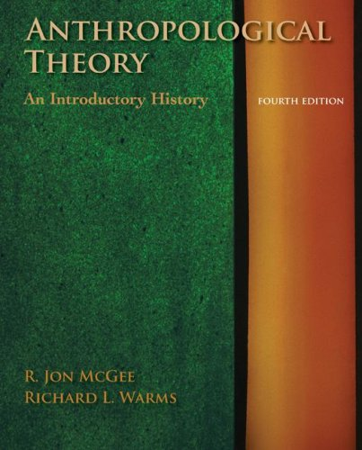 Anthropological Theory An Introductory History 4th 2008 edition cover